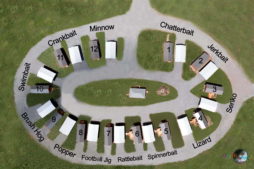 cabins in a circle for best access